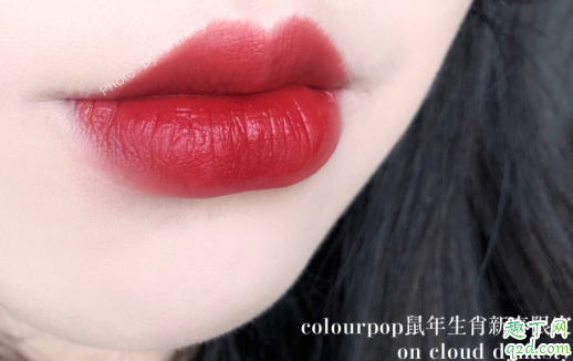colourpop鼠年唇釉on cloud dynasty是什么颜色 卡拉泡泡on cloud dynasty试色8