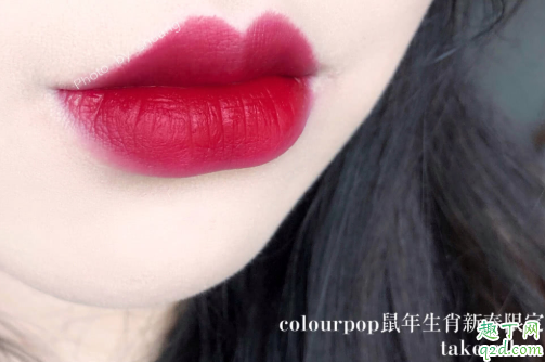 colourpop鼠年唇釉on cloud dynasty是什么颜色 卡拉泡泡on cloud dynasty试色7