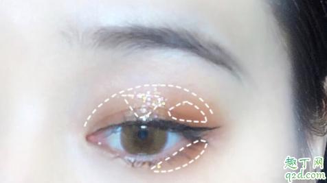 flortte花洛莉亚12色斑马眼影盘试色 flortte斑马盘12色眼影教程8