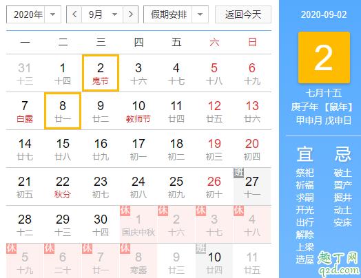2020年阴历几月几日鬼节 2020中元节出生的孩子好吗2