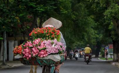 马路摆摊卖鲜花选择什么地段好