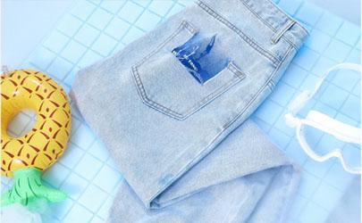 冰氧吧牛仔裤能机洗不