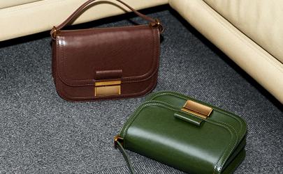 新款小ck复古包绿色和棕色哪个好看