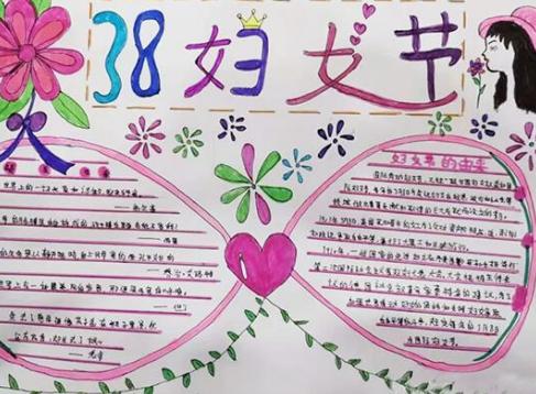 2021妇女节手抄报简单又漂亮精选1