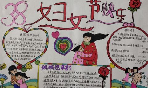 2021妇女节手抄报简单又漂亮精选5