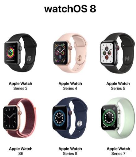 watchos8支持哪些设备2