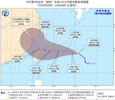 台风烟花什么时候登陆福建2021插图1
